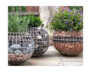 gabion spherical planters container water gardens