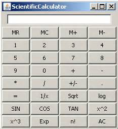 calculator java swing java swing scientific calculator