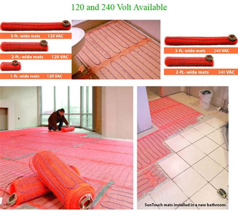 How To Install Suntouch Floor Heating Mats by Suntouch Electric Radiant Floor Heat Mats Sunzu