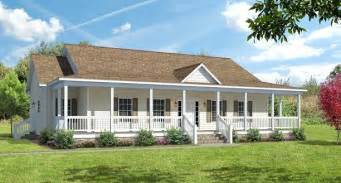 Ranch House Plans With Wrap Around Porch Covered Wrap Around Porch On Ranch The Ashton I Floor
