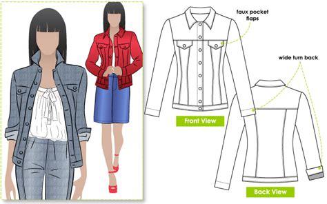 pattern for jeans jacket stylearc stacie jean jacket