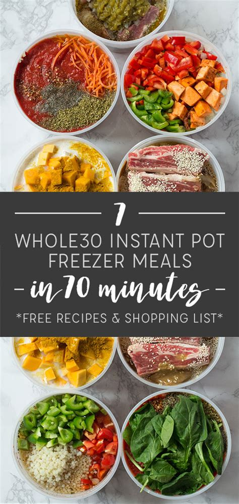 instant pot whole 30 cookbook the complete whole 30 instant pot cookbook with 100 easy and delicious instant pot cooker recipes books make 7 whole30 instant pot freezer meals in 70 minutes