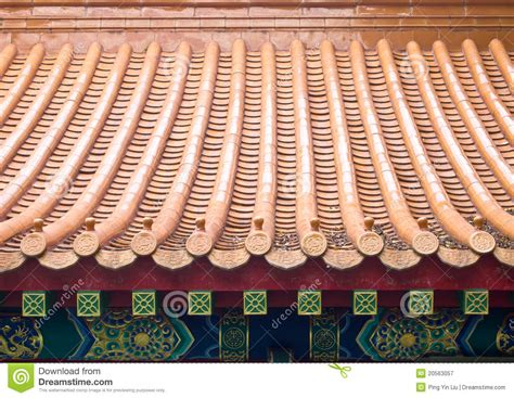 Chinese Roof Tiles stock image. Image of architectural