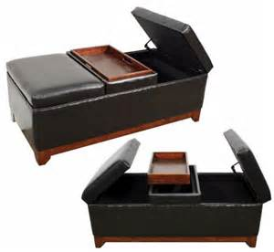 leather storage ottoman coffee table dining bench