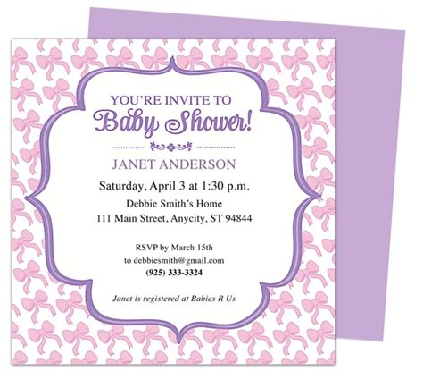 Baby Shower Free by Email Baby Shower Invitations Template Resume Builder