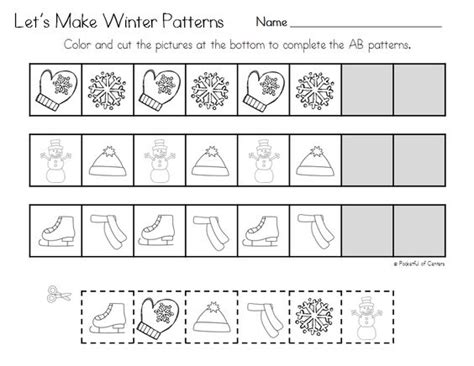 abc pattern for kindergarten winter pattern printables good morning morning work and