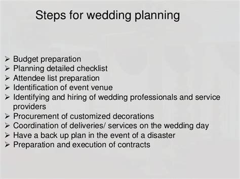 Wedding Steps by Wedding Planning