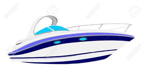 cartoon pleasure boat yacht vector clipart clipground