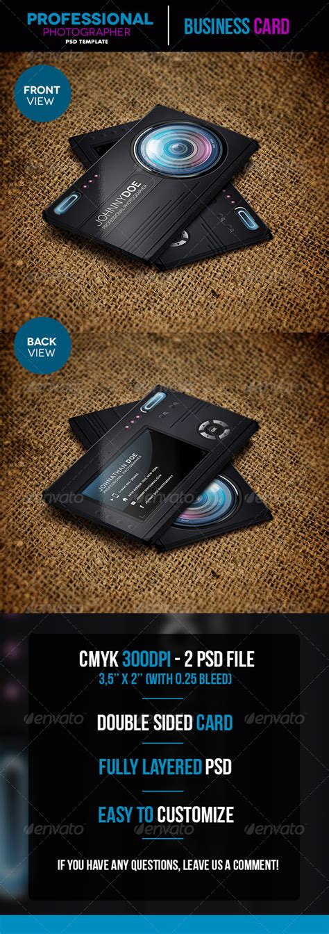 print template graphicriver professional photographer