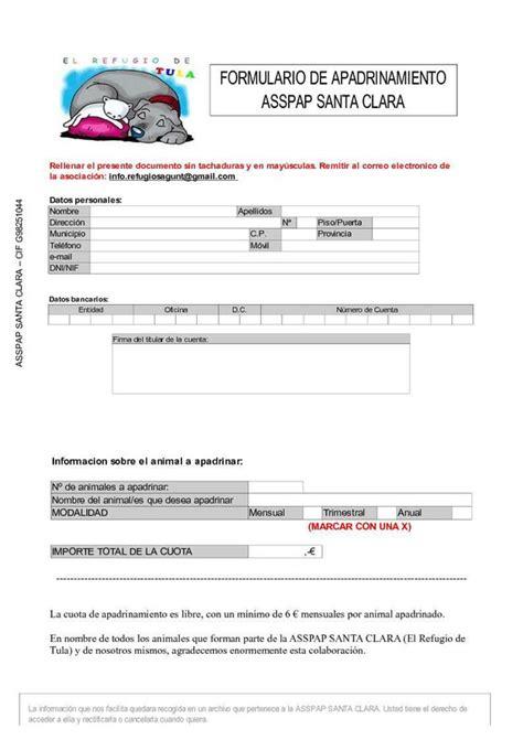 Formulario De Apadrinamiento | formulario de apadrinamiento newhairstylesformen2014 com