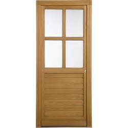 porte de service bois vichy poussant gauche h 200 x l 80