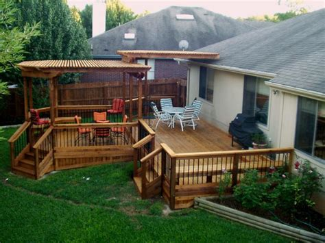 how to design a deck for the backyard decks austex fence and deck