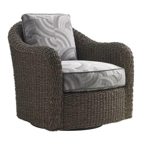 Swivel Wicker Chairs by Oyster Bay Seabury Wicker Swivel Barrel Chair In Gray 01 7726 11sw 60