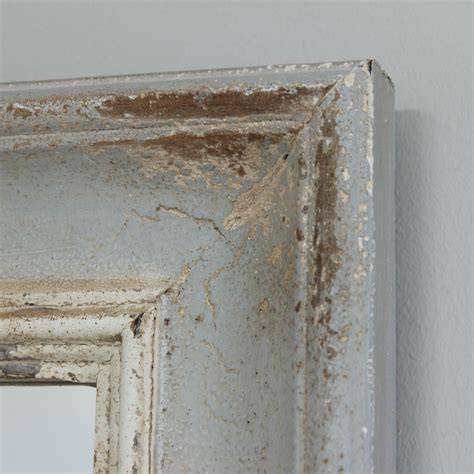 grey distressed wall mirror melody maison 174
