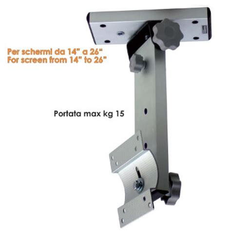 porta tv da soffitto staffa porta tv per cer o imbarcazioni w1 reclinabile