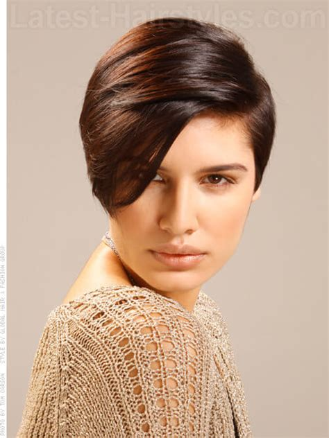 womens short haircuts short on one side long on other black women hairstyles short on one side and long on the