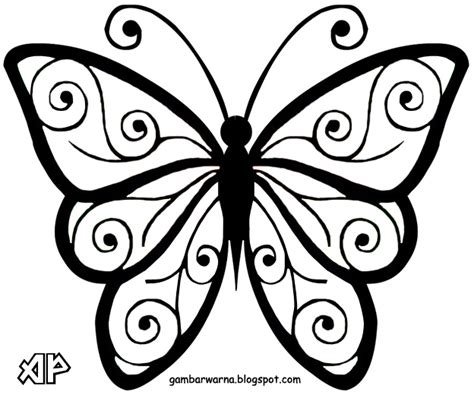 mewarnai kupu kupu belajar mewarnai gambar