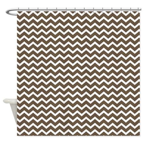 zig zag pattern curtains brown zigzag pattern shower curtain by mcornwallshop