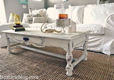 diy shabby chic white coffee table the project of 2012