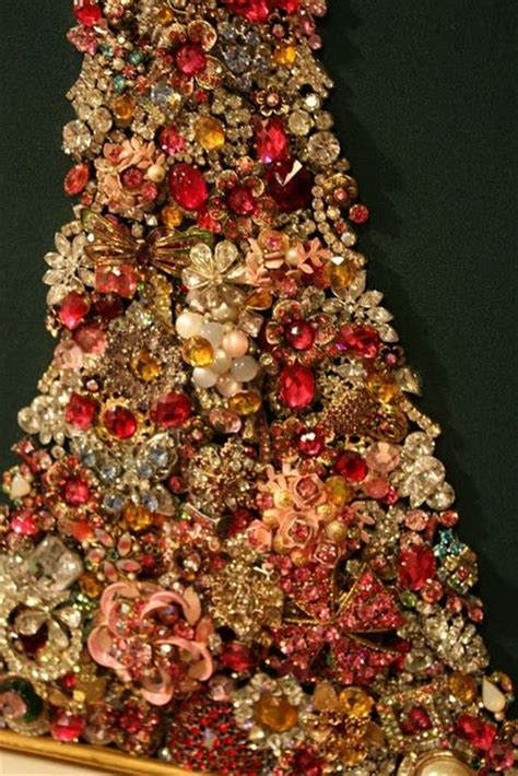 christmas tree made out of jewelry christmas ideas