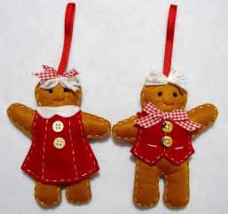 hand crafted 6 quot gingerbread boy girl felt christmas