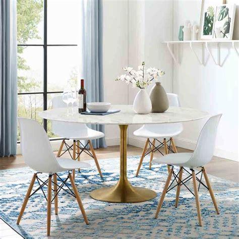 lippa   dining table  gold white modern