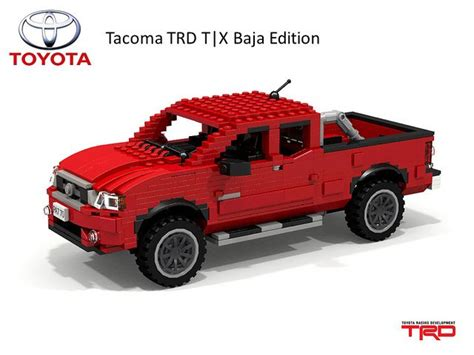 lego toyota tundra toyota tacoma trd t x baja edition made of legos