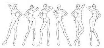 Drawing Models For Fashion Design Templates by 6 Poses Template With Elbowes Fashion Design Course