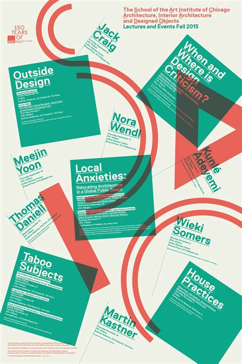 poster design educational institute get lectured school of the art institute of chicago fall