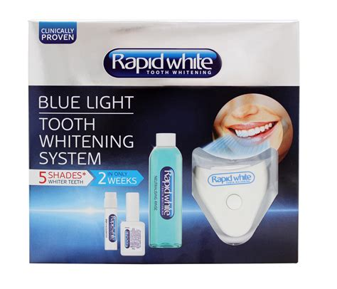 rapid white tooth whitening blue light tooth whitening