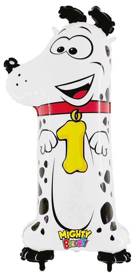 Limited Balon Foil 42 X 65 Cm karaloon shop 1 foil balloon number 1