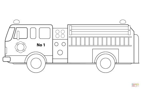 fire engine coloring page free printable coloring pages