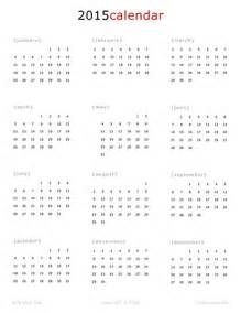 one page 2015 calendar new calendar template site