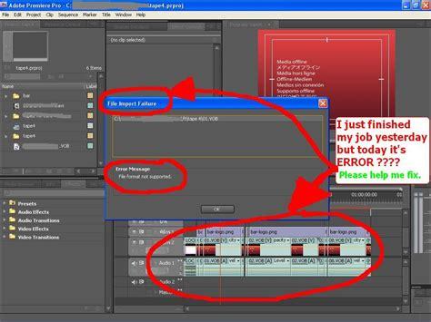 export adobe premiere pro cs4 adobe premiere pro cs4 error import vob file adobe