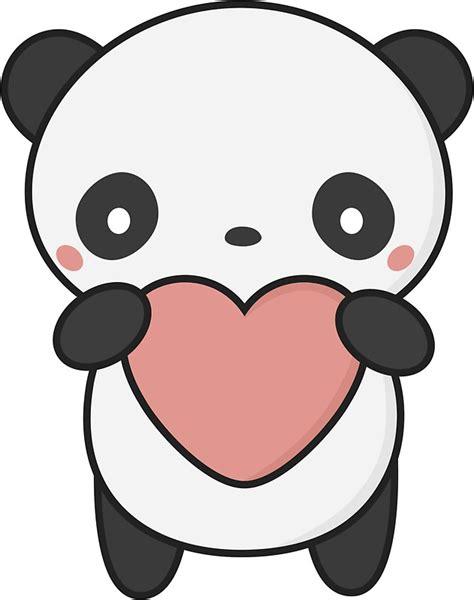 imagenes de viros kawaii quot cute and kawaii panda with a heart quot stickers by