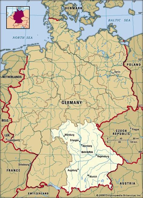 bavaria germany map bavaria history map britannica