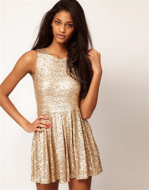 Asos Bring Us Another Style Gold Sequin Dress gold sequin dress asos new years potentially i