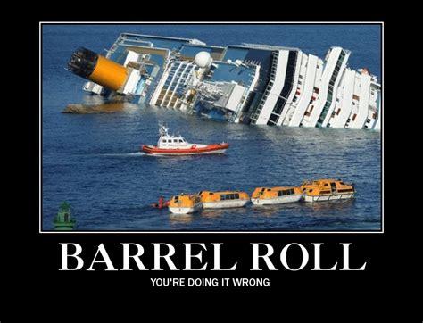 Do A Barrel Roll Meme - costa concordia memes