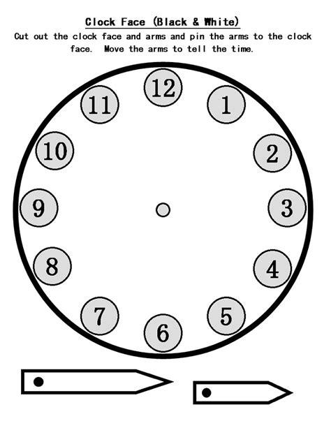 printable clock craft blank clock faces templates activity shelter