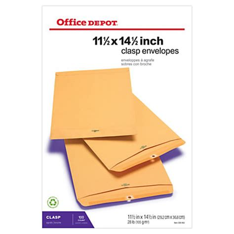 Can I Print At Office Depot by Office Depot Brand Clasp Envelopes 11 12 X 14 12 Brown Box