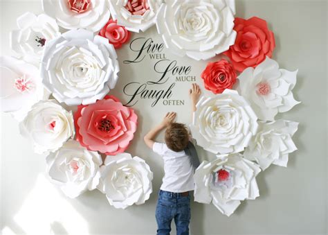 How To Make Large Paper Flowers For Wedding - large paper flowers for weddings paper flower backdrop