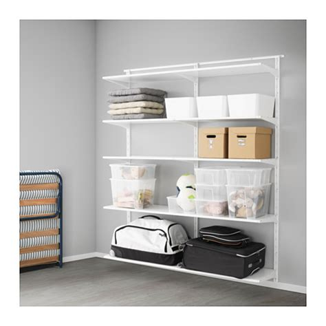 open clothes storage system diy algot wall upright shelves ikea