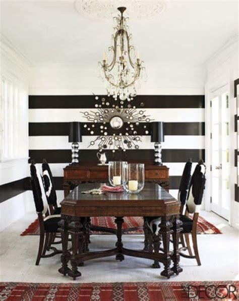 black and white striped home decor decorate using black and white stripes