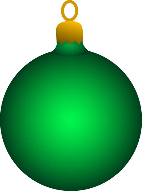 green christmas tree ornament free clip art