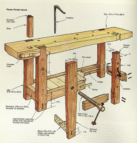 ingenious design    century roubo workbench sees