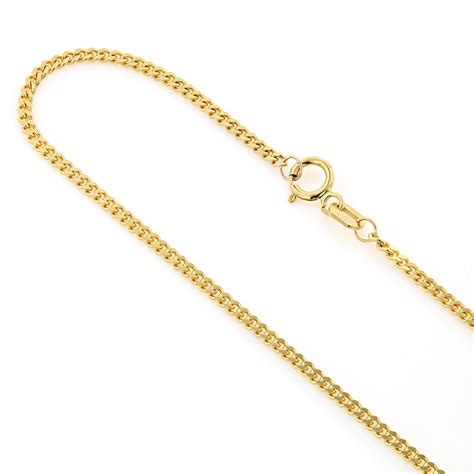 gold chain miami yellow gold cuban link curb chain 14k 1 5mm 22 40in
