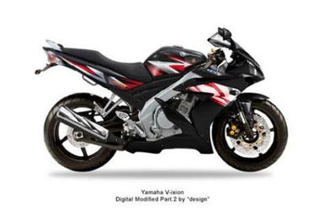 Vixion Black Modification by Yamaha V Ixion Black With Fairing R1 Motorcycle