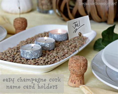cork name holders chagne cork name card holder