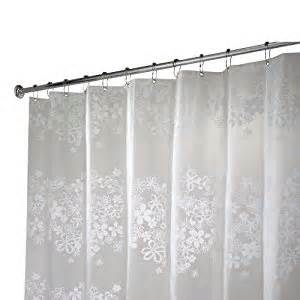 Curtains 96 Inches Wide Interdesign Fiore X Shower Curtain White 72 Inches X 96 Inches Co Uk Kitchen
