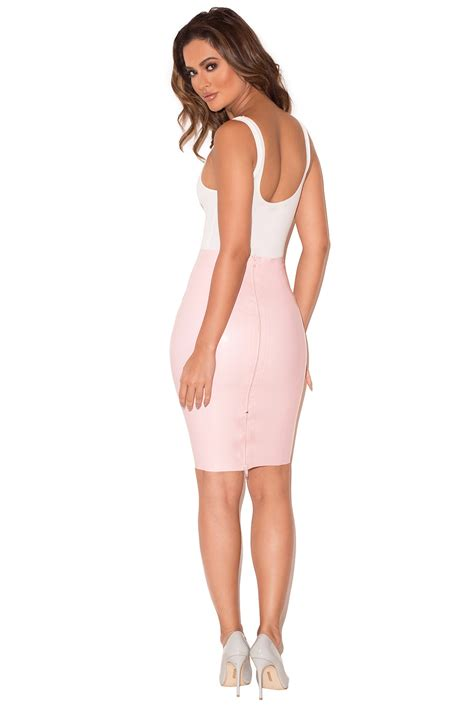 Bt8868 Pink Sofia Mini Dress clothing skirts sofia baby pink pencil skirt